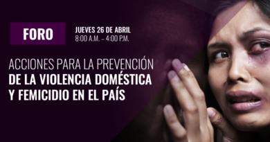 """FORO sobre """"Acciones para la Prevención de la Violencia Doméstica y Femicidio en el País"""""""