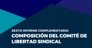 Sexto informe complementario: Composición del Comité de Libertad Sindical